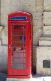 тип телефона mdina malta будочки великобританский Стоковая Фотография