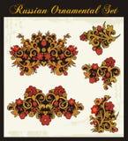 тип флористических орнаментов русский традиционный иллюстрация вектора