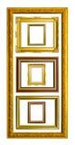 тип фото изображения стародедовской рамки золотистый Стоковое Изображение RF