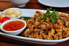 тип цыпленка глубоко зажаренный тайский Стоковое Фото