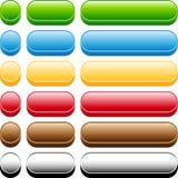 тип 3 кнопок установленный Стоковое Фото