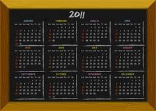 тип chalkboard 2011 календара Стоковое фото RF