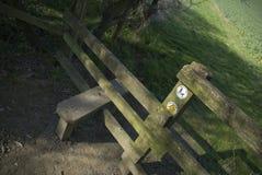 тип footpath деревянный Стоковые Фотографии RF