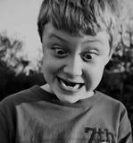 тип halftone выражения мальчика Стоковое Изображение RF