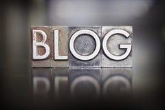 Тип Letterpress блога Стоковые Фотографии RF