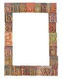 тип letterpress рамки алфавита Стоковое Изображение RF
