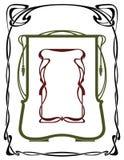 тип nouveau рамок искусства иллюстрация штока