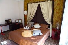 тип oriental спальни стоковые изображения rf