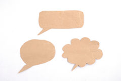 Тип spethree пузыря речи пузыря сделанный от paperech сделанного от бумаги Стоковые Фото