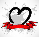тип splatter сердца grunge Иллюстрация вектора
