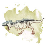 Тиранозавр ревя на предпосылке Grunge иллюстрация вектора