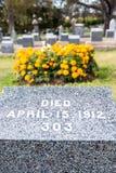 Титаническое кладбище Место в городе Halifax в Канаде где t Стоковая Фотография