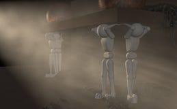 Титаны в фаре иллюстрация вектора