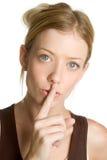 тихая женщина Стоковое фото RF