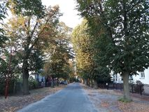 Тихая улица в городке Storkow стоковое фото