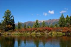Тихая часть реки горы Стоковая Фотография