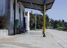 Тихий железнодорожный вокзал страны в Португалии Стоковые Изображения