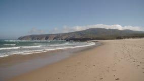 Тихий и красивый песчаный пляж акции видеоматериалы