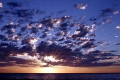 Тихий океан восход солнца стоковые фото