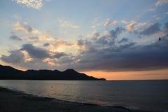 Тихий океан заход солнца в Costa Rica стоковая фотография
