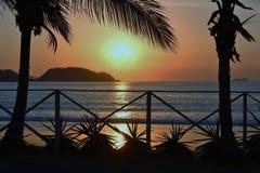 Тихий океан заход солнца 3 Стоковая Фотография RF