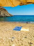 Тихий пляж стоковые фотографии rf