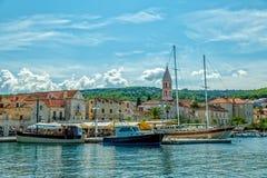 Тихий порт Supetar Стоковая Фотография