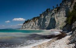 Тихий пляж в России на Чёрном море Стоковая Фотография RF