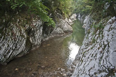 Тихий угол в горах Кавказа Стоковые Фотографии RF