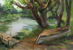 тихое река Стоковая Фотография