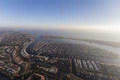 Тихоокеанское побережье воздушной гавани пляжа Ньюпорта Стоковые Изображения
