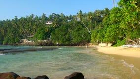 Тишь & красивый тропический пляж, Mirrisa, побережье SW акции видеоматериалы