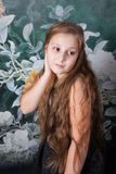 10-ти летний портрет девушки Стоковая Фотография RF