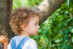 1-ти летний портрет ребёнка Стоковое Изображение