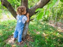 1-ти летний портрет ребёнка Стоковые Изображения RF
