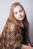 10-ти летний портрет рождества девушки Стоковые Изображения