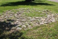 2000-ти летние каменные круги в Америке - форте старом, Огайо стоковые фотографии rf