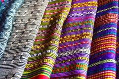 Ткани от Лаоса Стоковые Фото
