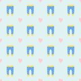 Ткани ткани дизайна картины одежд младенца вектора иллюстрация носки одежды ребенка платья безшовной вскользь красочная Стоковые Изображения RF
