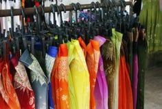 ткани silk Стоковое Изображение RF