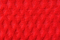 тканье близкой картины красное вверх по шерстям Стоковые Изображения