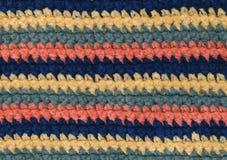 тканье вязания крючком конца предпосылки вверх Стоковые Изображения