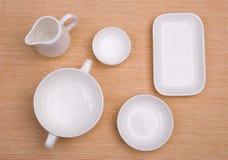 тканье тарелки предпосылки пустое Стоковая Фотография