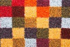 тканье шарфа предпосылки связанное крупным планом яркое Стоковая Фотография
