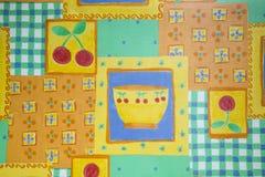 тканье шарфа предпосылки связанное крупным планом яркое Стоковое Фото