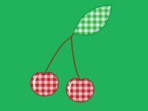 ткань вишни applique Стоковые Изображения