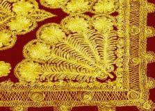 Ткань вышивки Suzane традиционная Стоковые Изображения