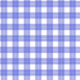 Ткань в тартане картины белого и голубого волокна безшовном EPS10 Стоковое Изображение