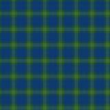 Ткань в тартане картины зеленого и голубого волокна безшовном EPS10 Стоковые Изображения