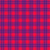 Ткань в тартане картины красного и голубого волокна безшовном EPS10 Стоковые Изображения RF